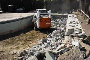 our San Bruno swimming pool removal techs are demolition and excavation experts
